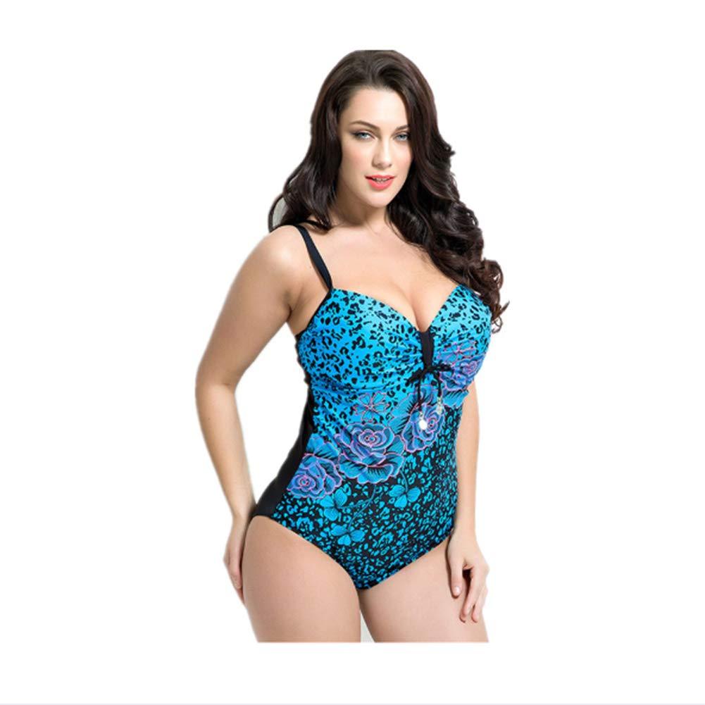 b7184af225 Amazon.com: Yan Yang Women's Retro Weight Loss One-Piece Swimsuit Sexy Bikini  Swimsuit Ladies Fashion Printing Belly Control Swimwear Beach Wave Swimsuit  ...