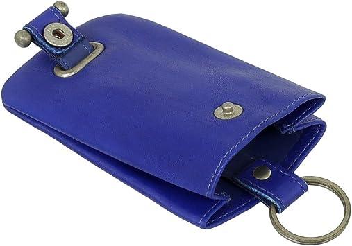 Piel Llave Campana estuche llavero llave funda con llavero Bolsa VERS. Colores Nuevo Azul azul real: Amazon.es: Equipaje