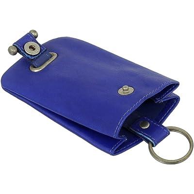 Piel Llave Campana estuche llavero llave funda con llavero Bolsa VERS. Colores Nuevo Azul azul real