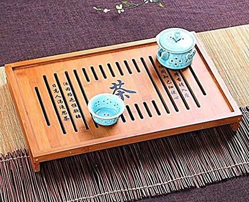 T2C Yeme Tasteful Bamboo Gongfu Tea Table Serving Tray (12.9 x 9.8 *x2.4)
