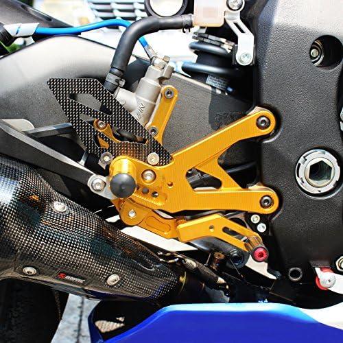CNC Moto r/églable Repose-pieds pour Yamaha Yzf-r1/15 16/Rearset Piquets de pied arri/ère de Repose-pieds Fit pour Yamaha Yzf-r1/15 16