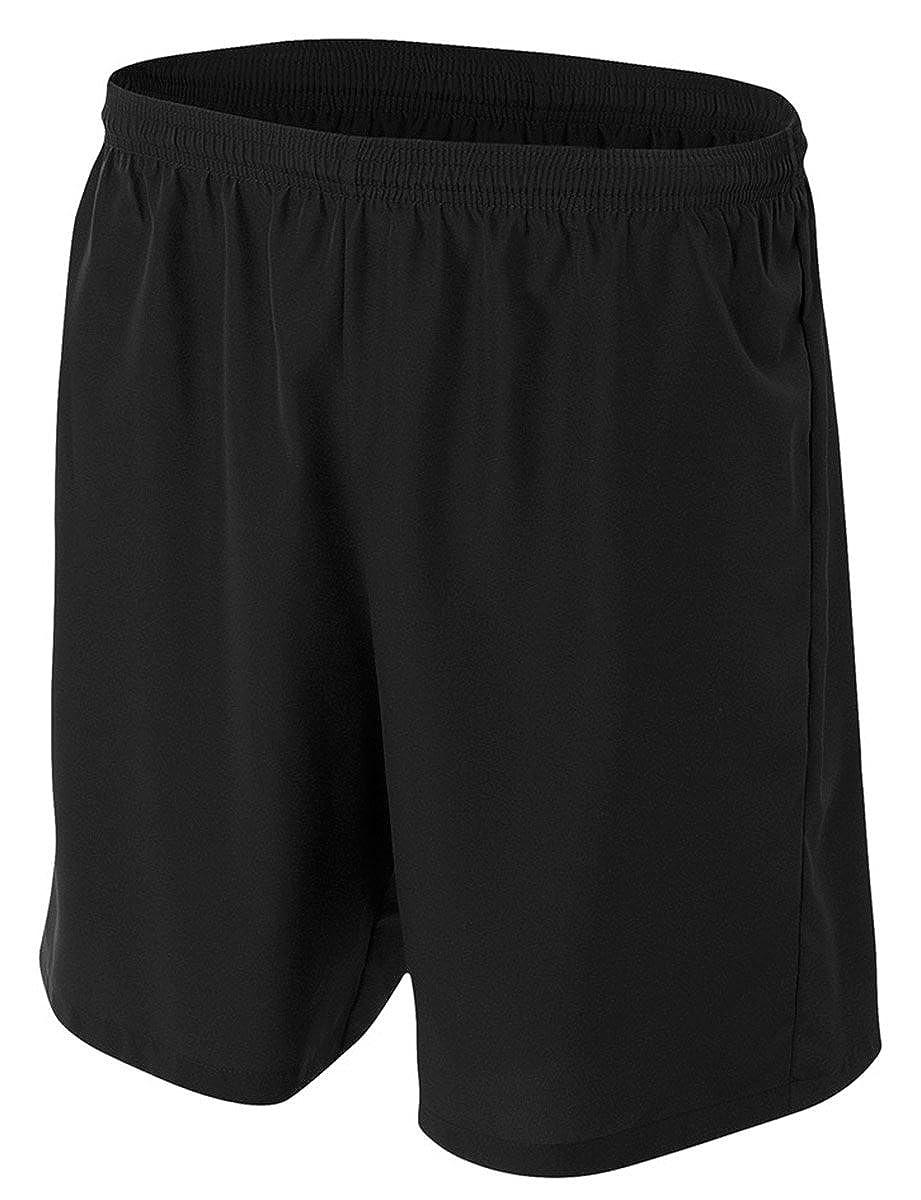 Blk A4 Big Boys Lightweight Woven Soccer Shorts Medium