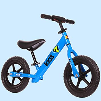 1-1 Bicicletas de Equilibrio para niños, Ruedas deespuma EVA a Prueba de pinchazos Ultraligero Sillín y Manillar Regulable en Altura,Blue: Amazon.es: ...