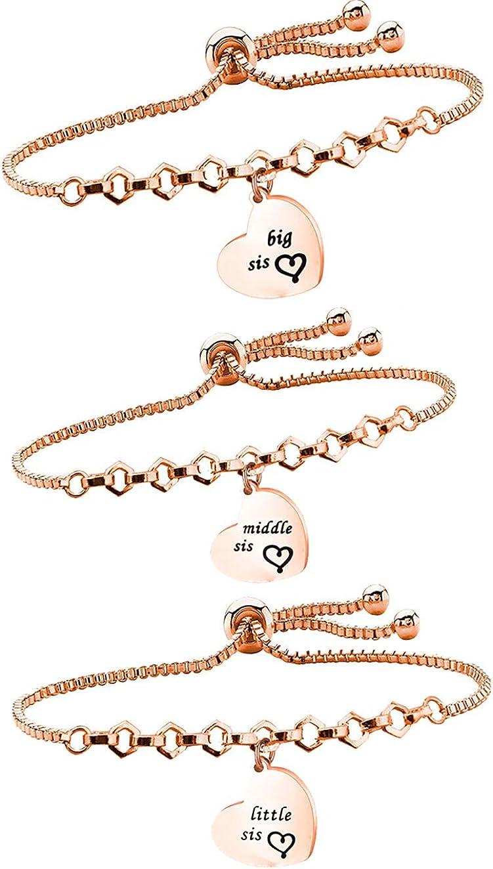 Heart Bracelet Chain Gold Bracelet,Gift For Her Bracelet for Sister For Her Adjustable Slider Bracelet Gold Bracelet