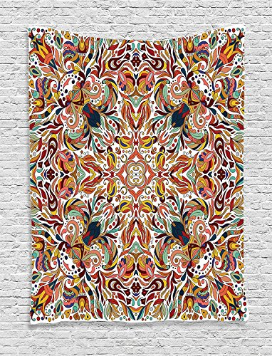 Supersoft Fleece Throw Blanket Batik Floral Persian Lines Middle Eastern Bouquet Inspired Kitsch Bohemian Artsy Print Multi