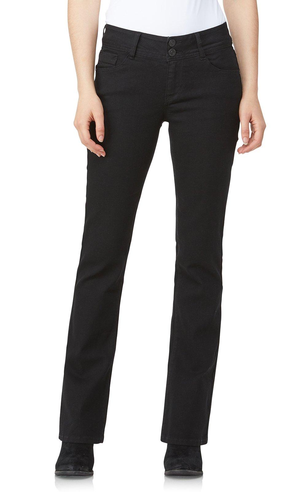 WallFlower Jeans Junior's Instastretch Luscious Curvy Bootcut Jeans, Black, 7 by WallFlower
