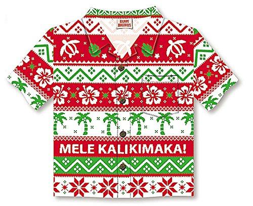 Island Ugly セーター アロハシャツ クリスマスカード/8箱 B07JMYYLFY