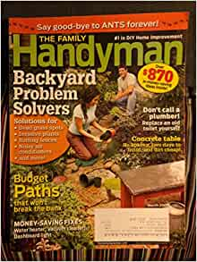 The family handyman march 2009 books for Family handyman phone number