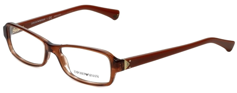 EMPORIO ARMANI EA 3016F Eyeglasses 5099 Striped Transparent Brown 53-16-140 B00GP2XKFO