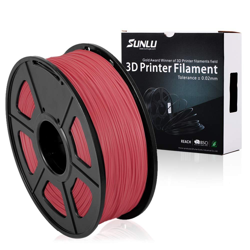 SUNLU 3D Printer Filament PLA Plus Black, PLA Plus Filament 1.75 mm,Low Odor Dimensional Accuracy 0.02 mm, 3D Printing Filament,2.2 LBS (1 Kilogram) Spool for 3D Printers and 3D Pens, Black SUNLUGW
