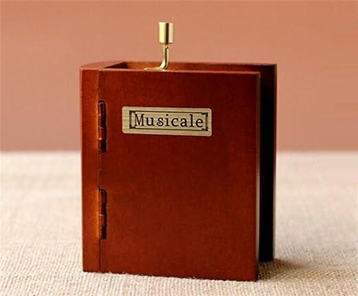 Cuzit Retro - Caja de música de madera para libro en el cielo con ...