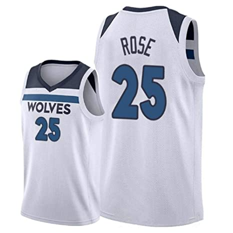 the latest f7a24 dda30 LSJ-ZZ Camiseta de Baloncesto Hombres Derrick Rose # 25 ...