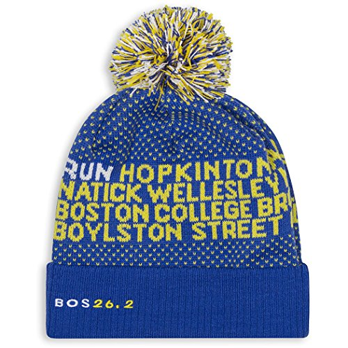 Gone For a Run Boston Pom Pom Beanie Hat | Running (Marathon Running Cap)