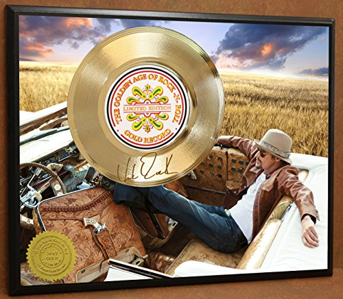 KID ROCK LIMITED EDITION SIGNATURE LASER ETCHED POSTER ART GOLD RECORD DISPLAY - Kid Rock Memorabilia