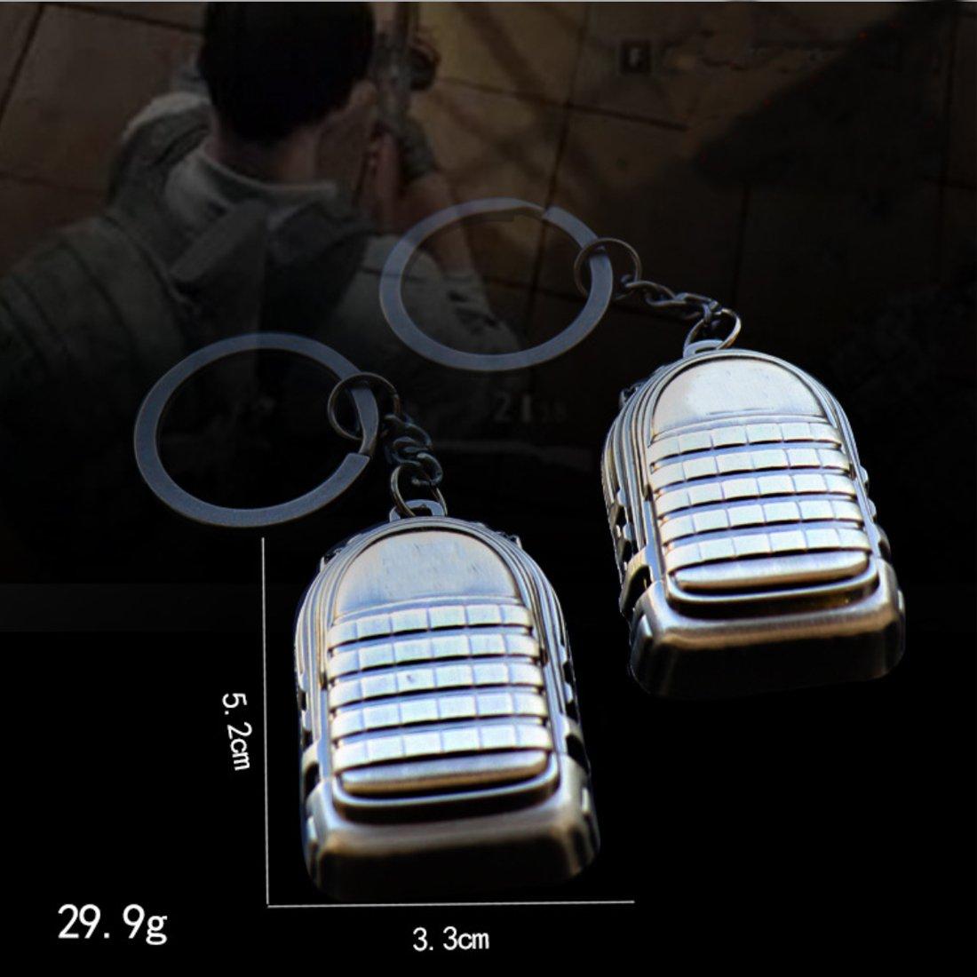 Three-Level Backpacks 98k Keychains Pan Wen XinRong Beautiful Fashion Metal Keychain Helmets Pans