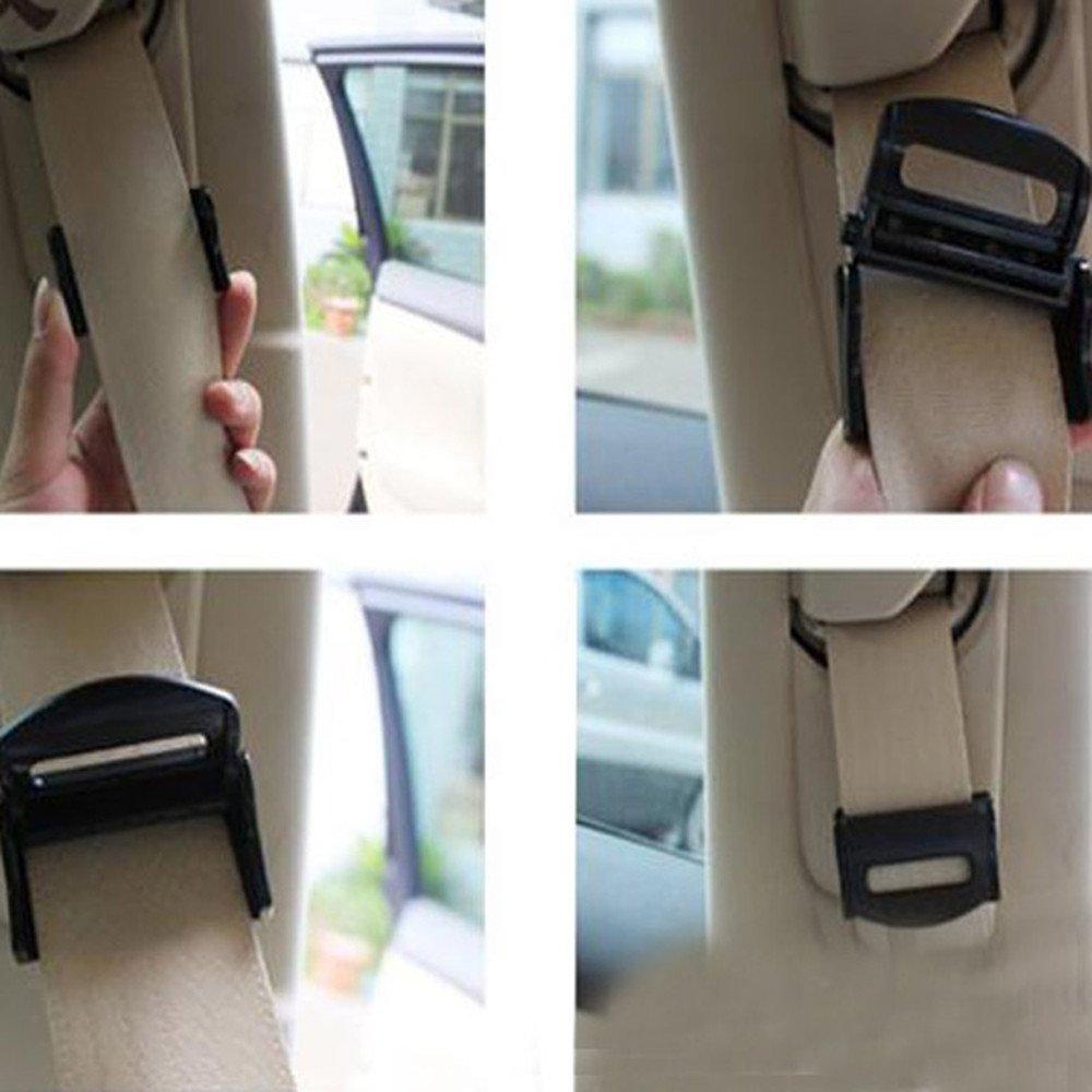 2/pcs de voiture ceintures de s/écurit/é Clips de s/écurit/é r/églable Bouchon Boucle Plastique Clip ceinture de s/écurit/é Ajusteur de tension pour boucle