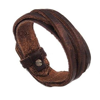 Lederarmband damen zum wickeln  Herren Leder Armband geflochten Männer Lederarmband Damen Armkette ...