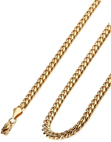 male s new gold necklace chain detail steel simple product stainless men arrive