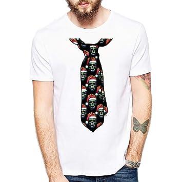 ZCYTIM último diseño Divertido de los Hombres Camiseta Festive ...