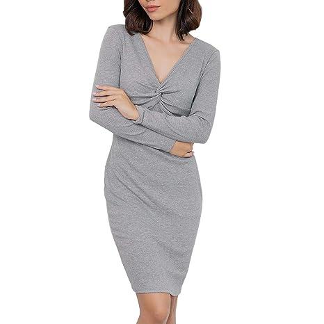 Vestiti Donna Eleganti Felpa con Cappuccio Vestito Hoodie Autunno Inverno  Corti Abito Pullover Semplice Glamorous Asimmetrico 9c065c77076