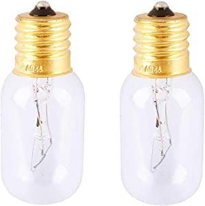 Replacement 6912W1Z004B Light Bulb for LG Frigidaire Microwave - Incandescent Lamp for Kenmore GE Whirlpool Maytag Over The Range Hood Microwave Oven, Dimmable with 125V 30W E17 Base, 2 Pack