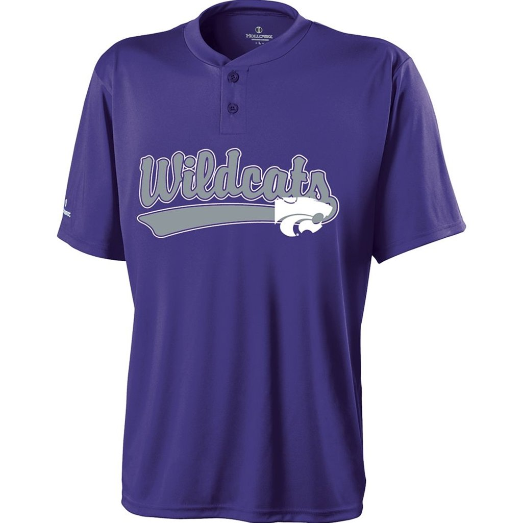 Holloway Kansas State Wildcats Ball Park Jersey (Small, Purple/Silver) by Holloway