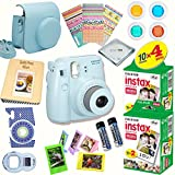 #5: Fujifilm Instax Mini 8 (Blue) Deluxe kit bundle Includes: - Instant camera with Instax mini 8 instant films (40 pack) - A MASSIVE DELUXE BUNDLE