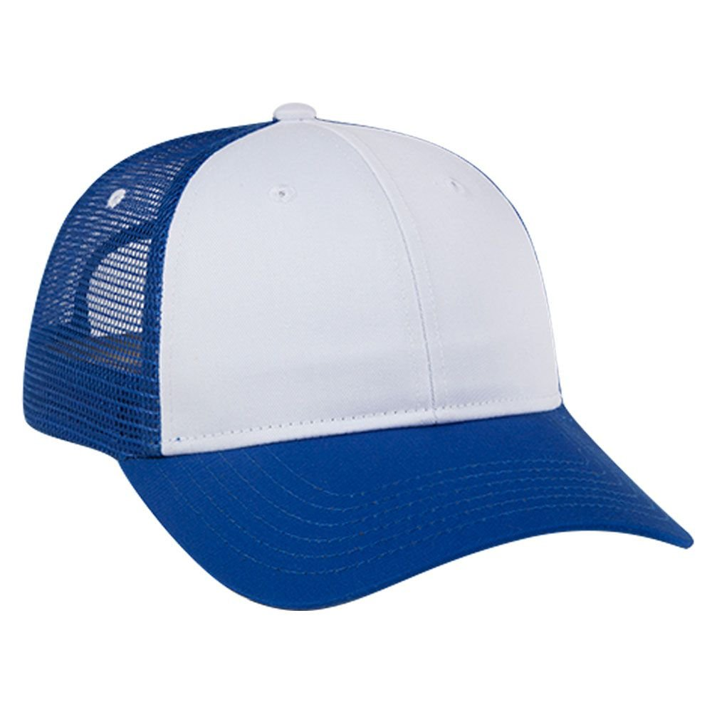 OTTO Cotton Blend Twill 6 Panel Low Profile Mesh Back Trucker Hat OTTO Cap