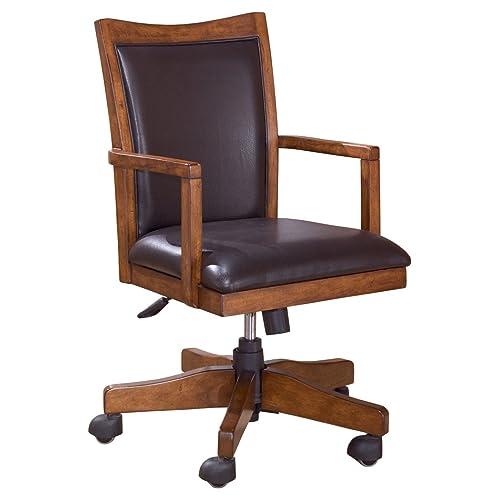 Ashley Furniture Signature Design - Cross Island Swivel Desk Chair -  Casters - Casual - Medium - Vintage Desk Chairs: Amazon.com