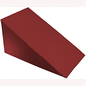 "MoonRest 24"" X 24"" X 10"" - Bed Wedge Cover – Wedge Pillow Cover with Zipper - 100% Cotton Replacement Pillowcase for Bed Wedges - Universal Fit for Wedges Up to 27"" Wide - 24"" X 24"" X 10"" - Burgundy"