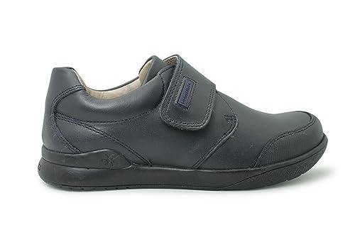 BIOMECANICS - Zapato colegial de niño con velcro y puntera reforzada - NEGRO - 161129: Amazon.es: Zapatos y complementos