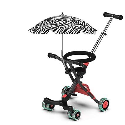 Carrito de bebé Carretilla de tres ruedas para niños Carbono ...
