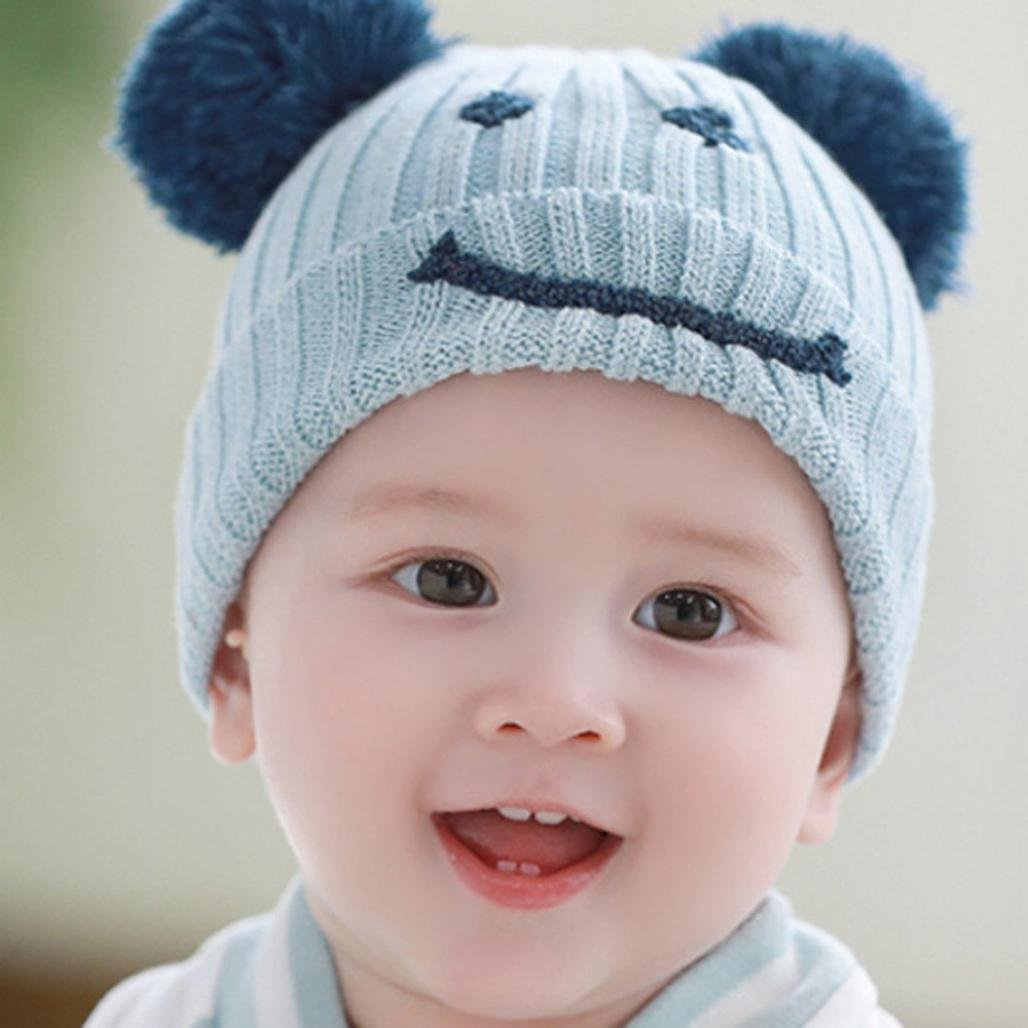 Suit for 6-24 Months Baby,DIGOOD Baby Boys Girls Winter Warm Cotton Smile Ball Hats