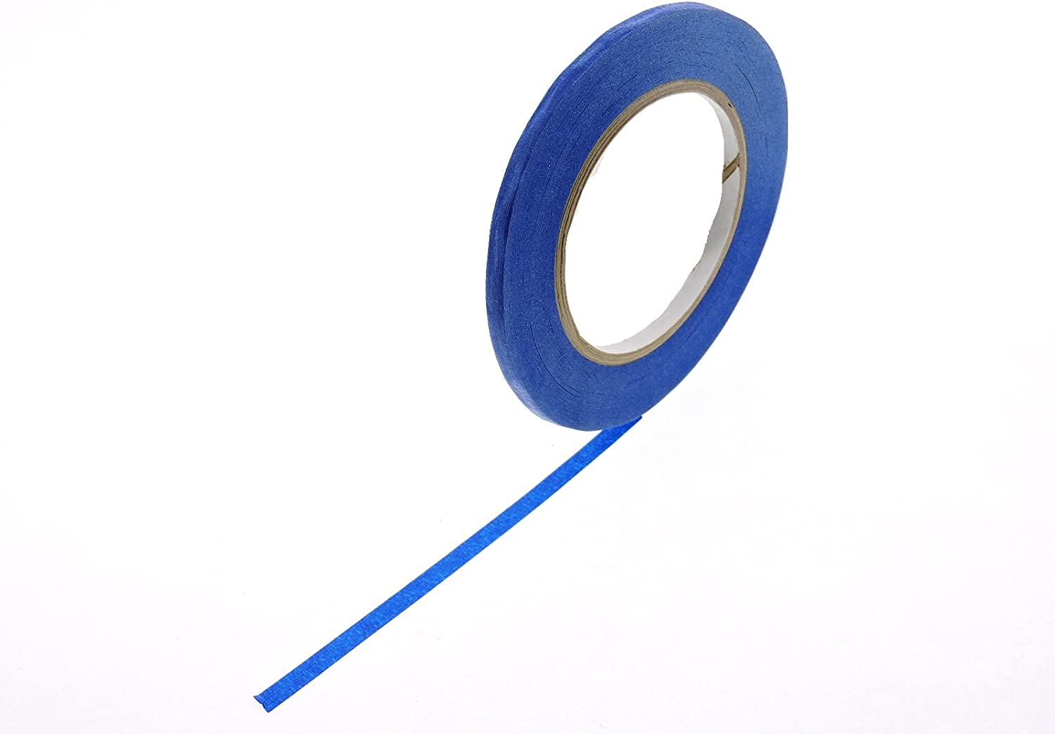 """3pk 1/4 1/2 3/4\"""" in x 60 yd Blue Painters Tape Medium High Tack Sticky Paper Masking Tape Edging Small Projects Fine Trim Detailing Multi Surface Clean Release 21 Day Easy Removal No Residue 6MM-18MM"""