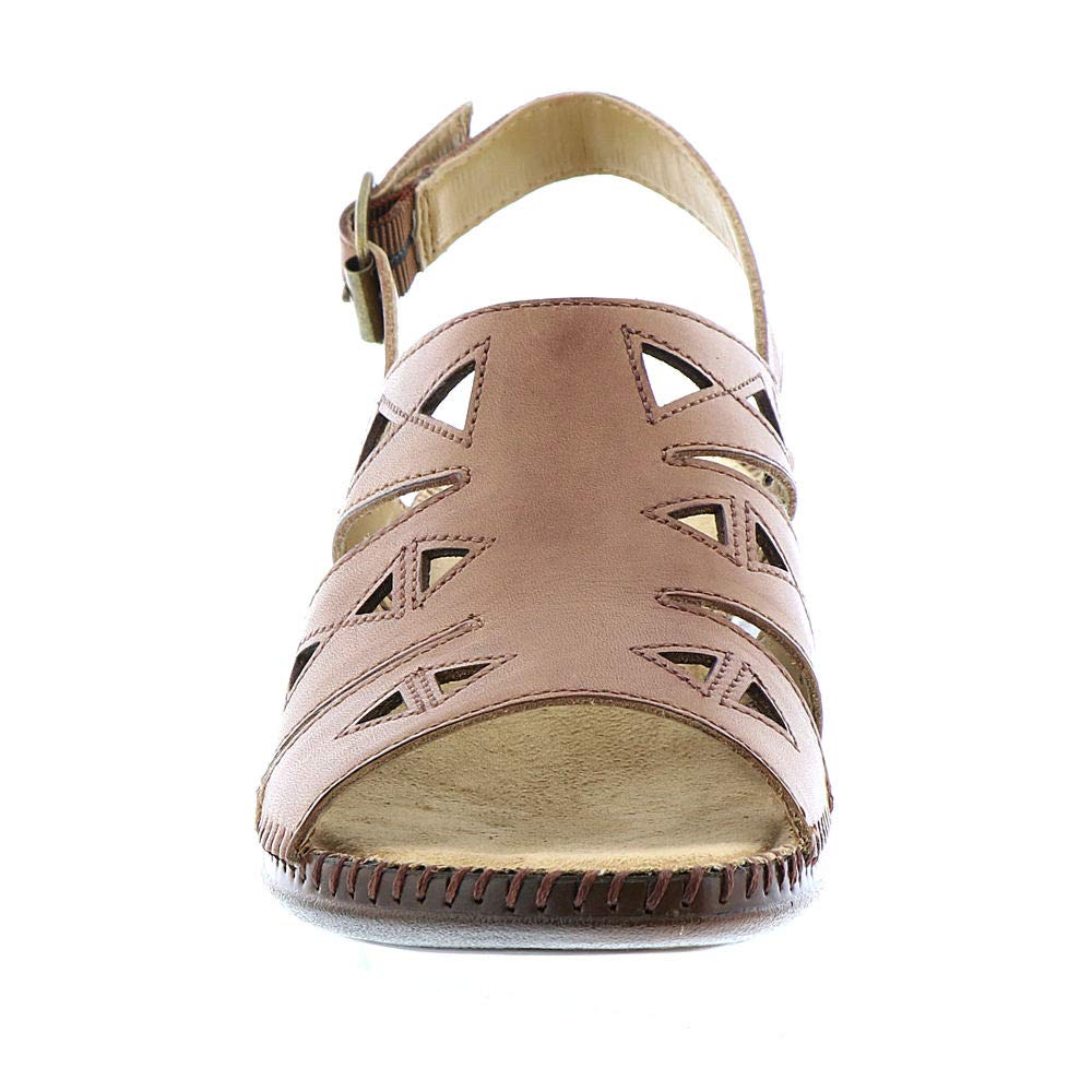 Auditions Frauen Megan Offener Zeh Leger Flache Flache Leger Sandalen Tan 275886