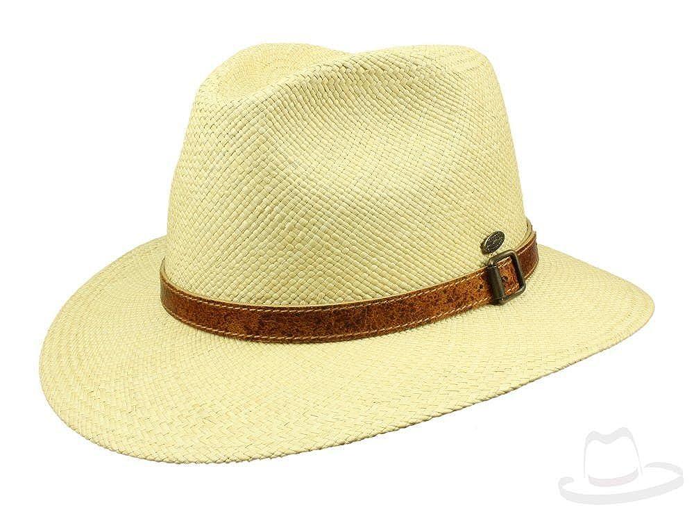 Mayser Joan Panamahut Traveller Hut wasserabweisend mit UV-Schutz aus Stroh - natur