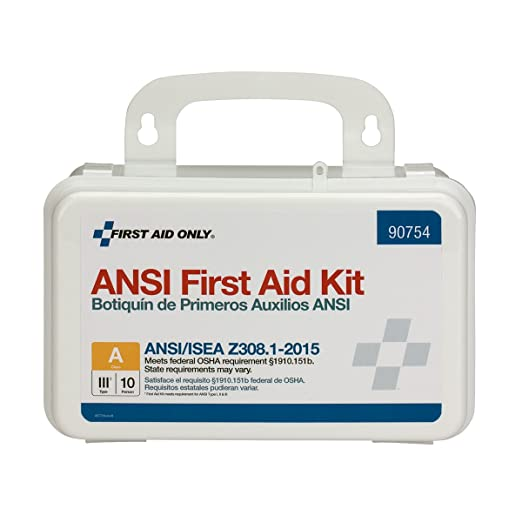 Pac-Kit by First Aid Only 90754 10 Person Bulk ANSI A, Plastic best first aid kit