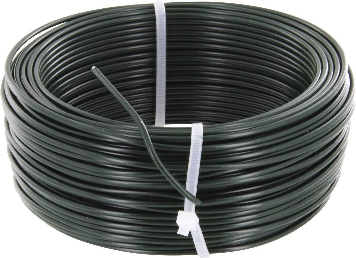 Fil de tension galvanisé plastifié - Longueur 100 m - Diamètre 2,6 mm - Vert
