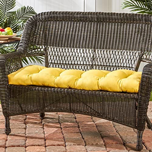 Greendale Home Fashions 44-Inch Indoor Outdoor Swing Bench Cushion