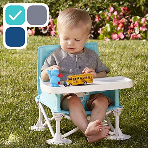 hiccapop Omniboost Travel Booster Seat with Tray for Baby | Folding Portable High Chair for Eating