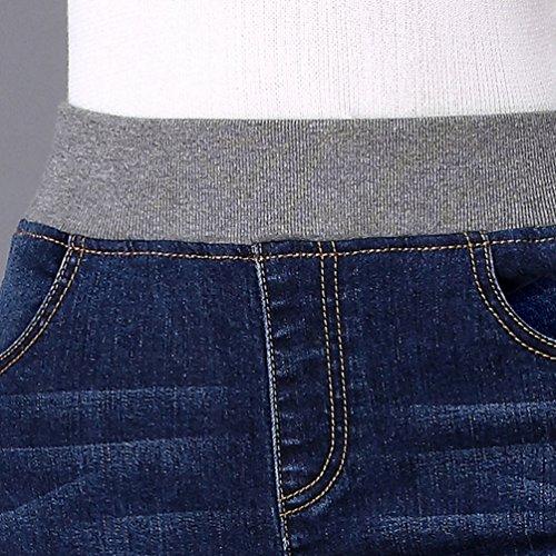 Sigaretta Stretch Jeans Yuandian Taglie E Fit Leggings In Skinny Vita Donna Con Casual Forti Slim Pantaloni Alla Denim Autunno Elastico Blu Inverno Caviglia Matita qqaR0