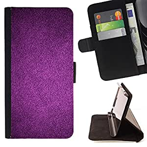 - Purple Reflective Dark Wallpaper - Estilo PU billetera de cuero del soporte del tir???¡¯???3n [solapa de cierre] Cubierta- For Sony Xperia Z1 L39 ( Devil Case )
