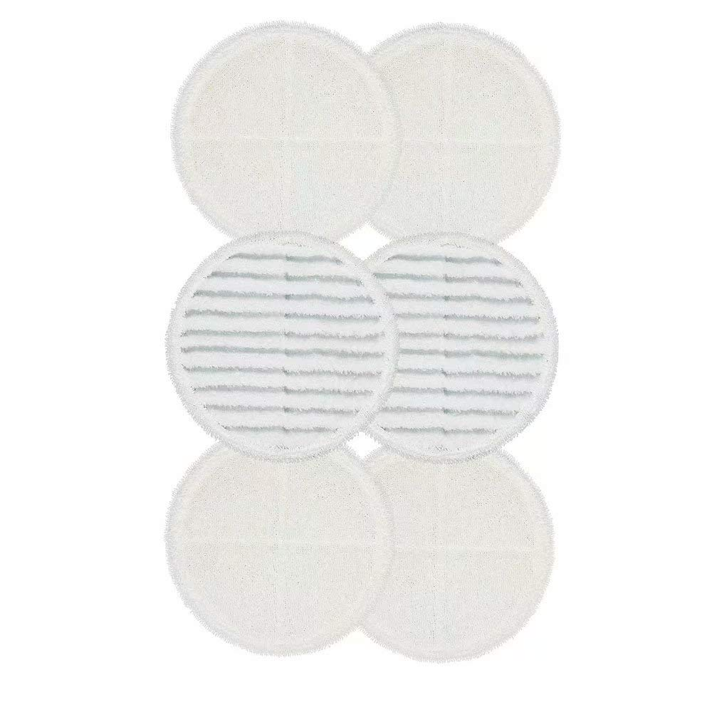 FirstDecor Replacement Mop Pads for Bissell Bissel Spinwave Hard Floor Cleaner Powered Rotating Mop 2039 Series, 2307, 2315A, Compatible Part # 2124, 6-Pack (4 Soft Pads + 2 Scrubby Pads)