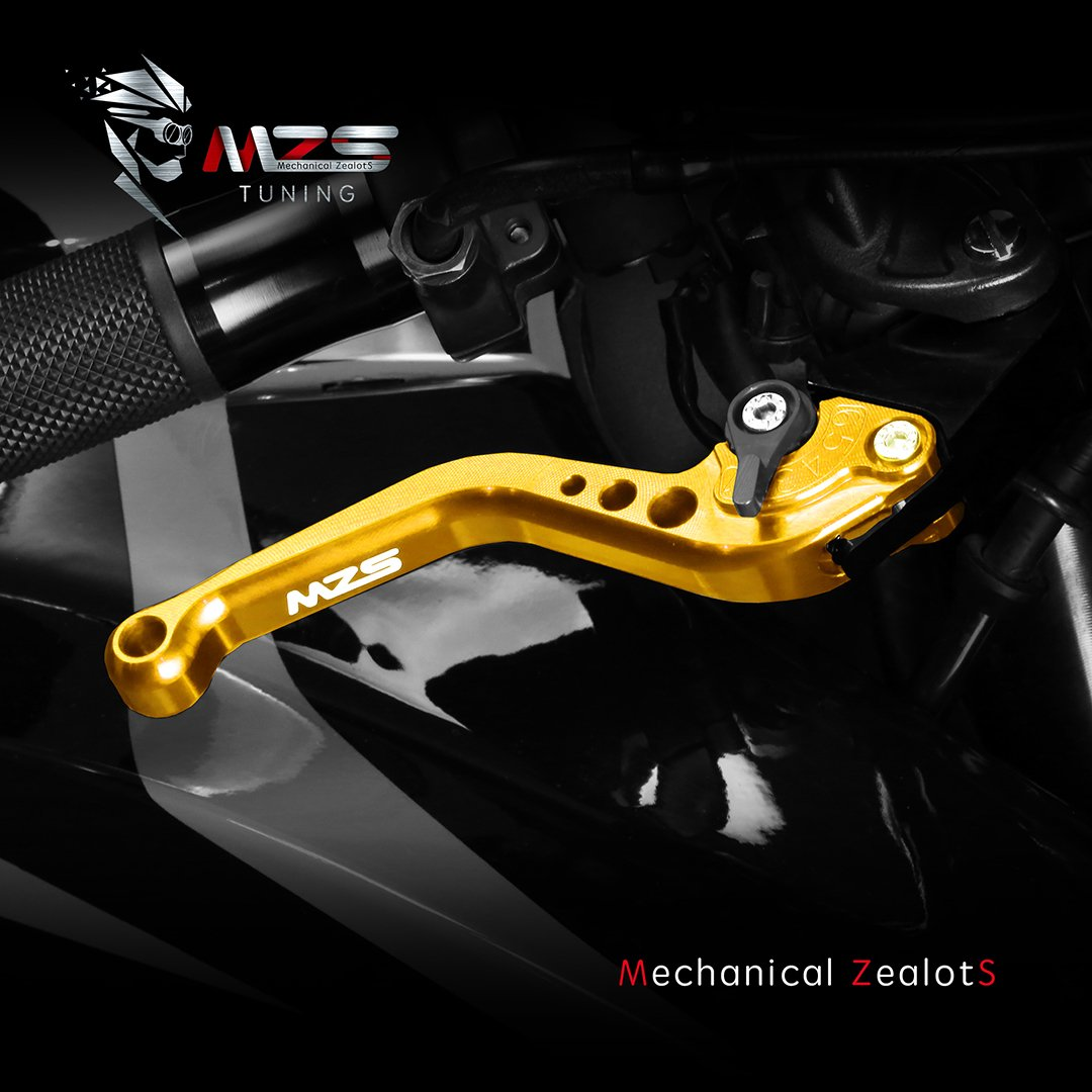 MZS Short Brake Clutch Levers for Suzuki GSXR600 2006-2010// GSXR750 2006-2010// GSXR1000 2005-2006 Gold