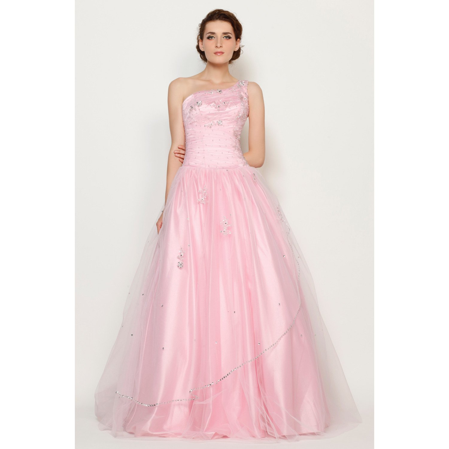 00a4fa4d121 JSSHAN Women s Strapless Sweetheart Beaded Flowers Organza Princess Ball  Gown Quinceanera Dress Size US2 UK6 EUR34 Color Champagne  Amazon.co.uk   Clothing