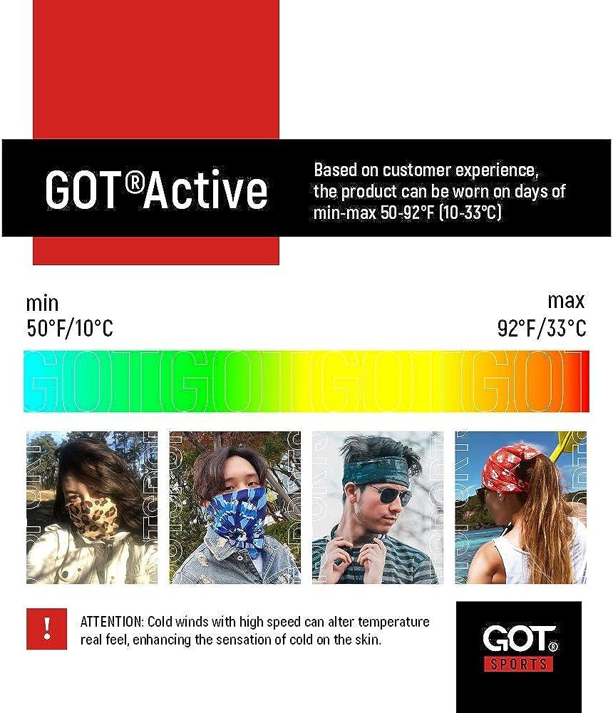 Breathable Moisture Wicking Microfiber Fishing Headband Yoga Neck Gaiter Perfects for Running Hiking GOT Sports Multifunctional Tube Headwear Biking Works as Scarf Bandana