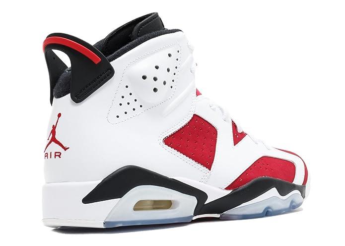 new style 4c7e5 7c9dc Amazon.com   Jordan Air Retro 6 Men s Shoes White Carmine-Black 384664-160    Basketball