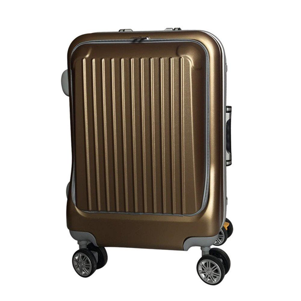 スーツケース 純粋なPCビジネストラベルロッドボックスアルミフレームボックス耐圧圧縮およびアンチドロップユニバーサルホイールスーツケーストラベルギア (色 : Metallic) B07VFCZ31V Metallic
