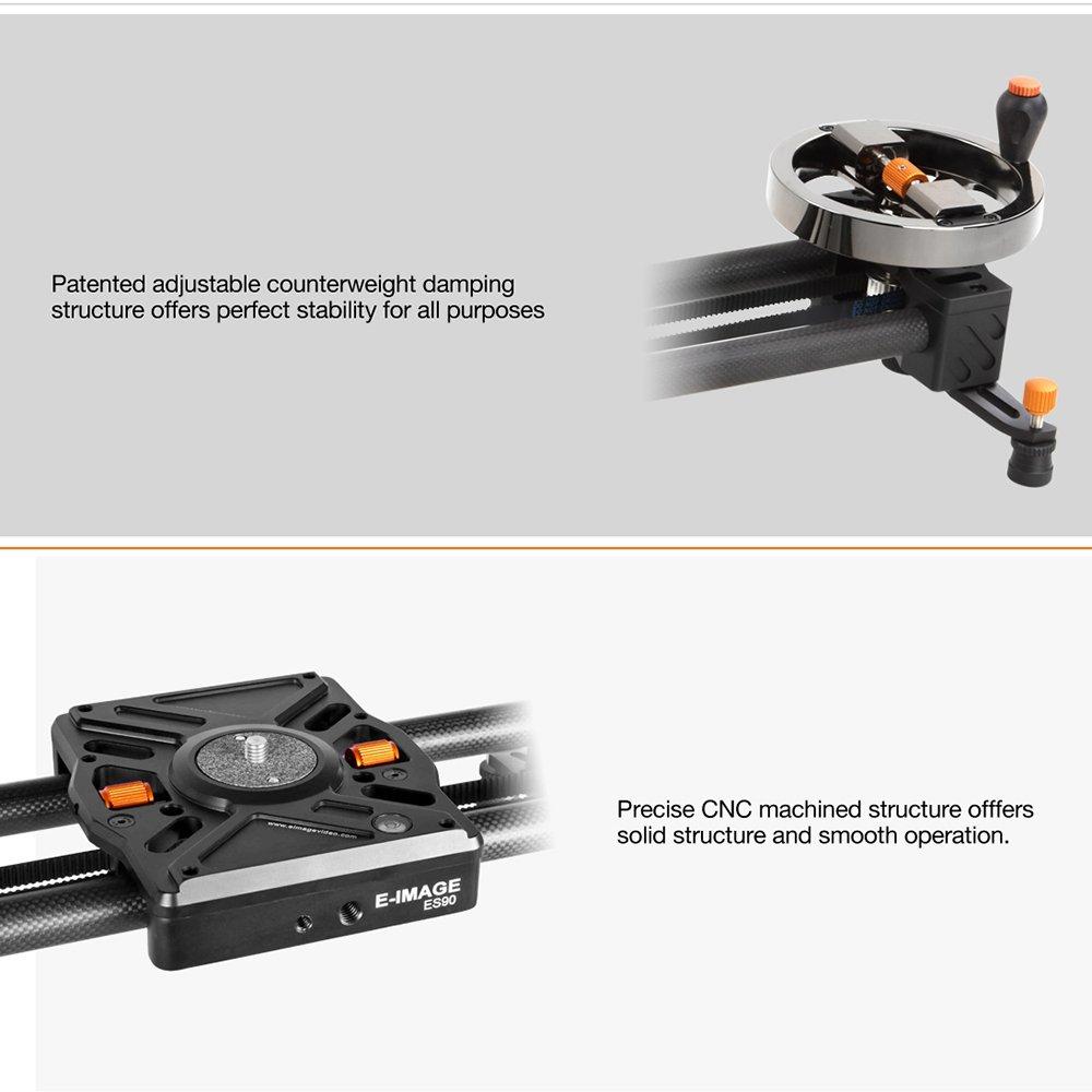 E-IMAGE extensible ES80 80 cm-220 cm vídeo de fibra de carbono ...