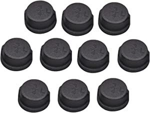 Black Malleable Iron Pipe Fitting Cap,Black Pipe Caps for Steampunk Vintage Shelf Bracket DIY Plumbing Pipe Decor Furniture(3/4 inch,10 Pack)